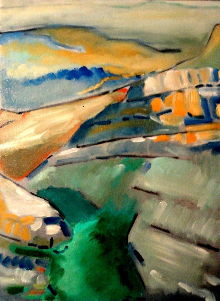 Fresnal Canyon, 2006, Oil on canvas, 18 x 24 inches